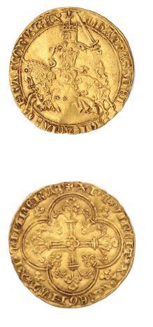 Franc à cheval. 3,87 g. D. 294. TTB à su...