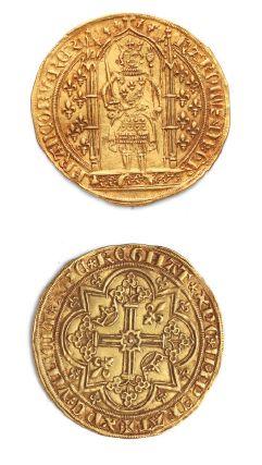 CHARLES V (1364-1380) Franc à pied. 3,75...