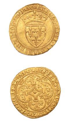 CHARLES VI (1380-1422) Écu à la couronne....
