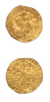 Agnel d'or. Paris. 2,54 g. D. 372. Flan irrégulier....