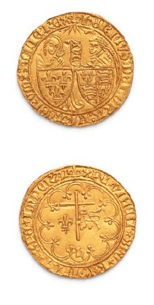 HENRI VI (1422-1453) Salut d'or. Saint-Lô....
