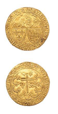 Salut d'or. Saint-Lô. 3,47 g. D. 443A. Traces...