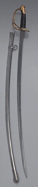 Sabre de cavalerie légère modèle 1822/83. Poignée en corne avec filigrane (accident)....