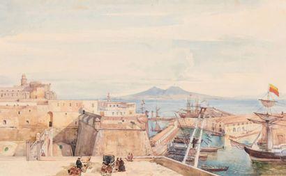 Francesco II de BOURBON-SICILES (Naples, 1836 - Arco, 1894) et probablement Giacinto GIGANTE (Naples, 1806-1876)