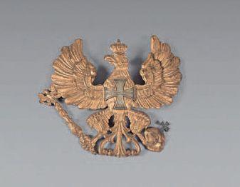 Plaque à l'aigle de casque à pointe modèle...