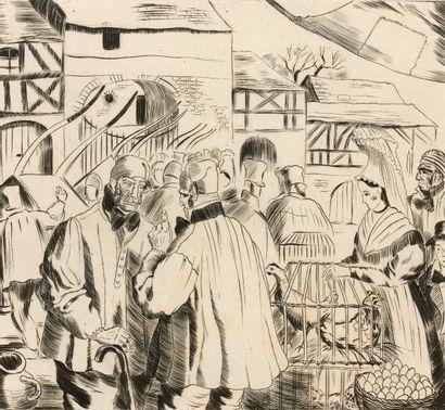 Ensemble d'illustrations de livres par Thérond,...