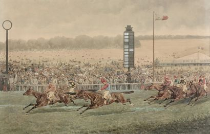 Charles Fernand de CONDAMY (vers 1855-1913) Longchamp, Grand Prix de Paris 1879,...