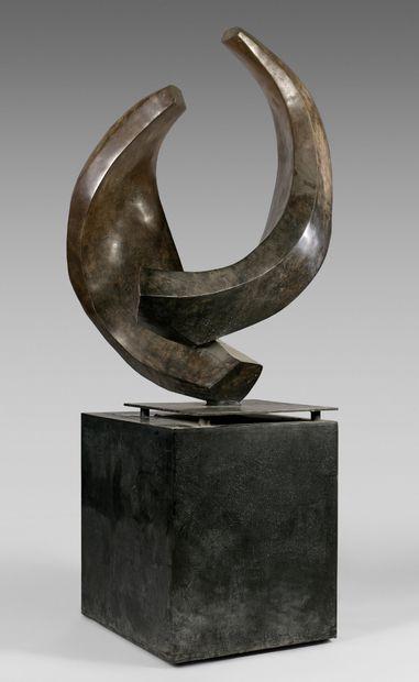 Hedva SER (née en 1948) Affection Sculpture en bronze patiné, signée, datée 2006,...