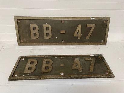 Plaque en fonte de motrice BB 47.