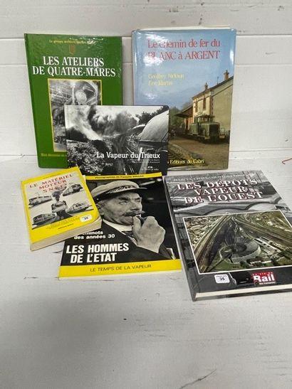 Lot de livres ferroviaires dont DAHSTROM...