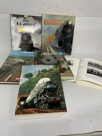 Lot de livres ferroviaires dont VILLAIN «La...