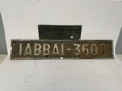 Plaque en fonte 1 ABB A 1 - 3608  Plaque...