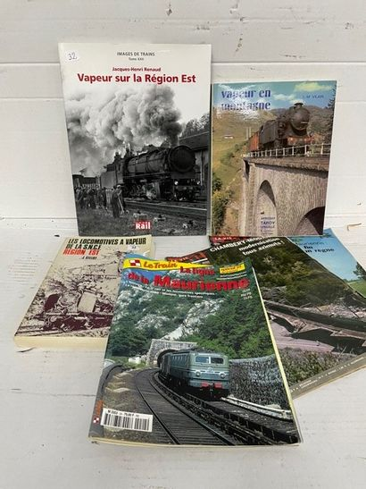 Lot de livres ferroviaires dont RASSERI –...