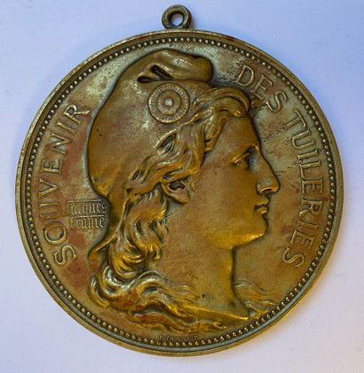 Grande médaille en laiton, par Tassetet Jacques...