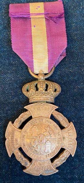Espagne - Carlisme, médaille royale et distinguée...