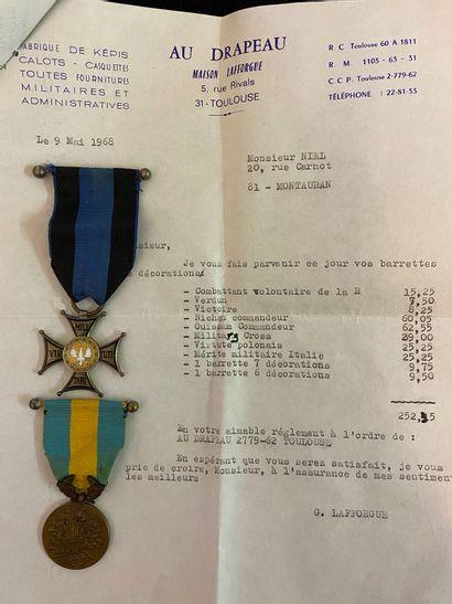 Pologne - Lot de deux : Ordre de «Virtuti...