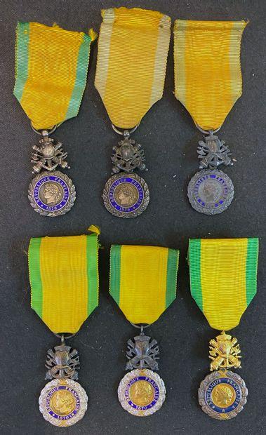 Médaille militaire, lot de six : cinq IIIe...