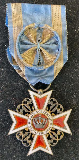 Roumanie - Ordre de la Couronne, fondé en...