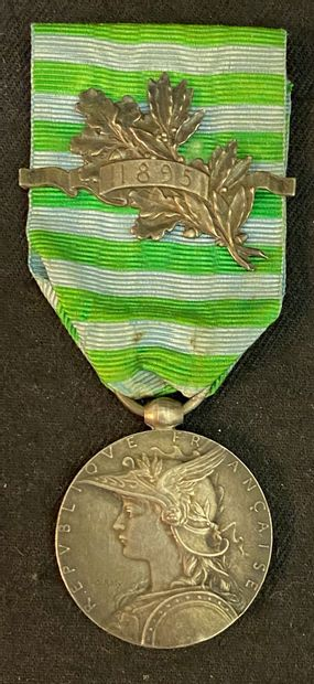 Médaille du Madagascar, 1895, en argent,...