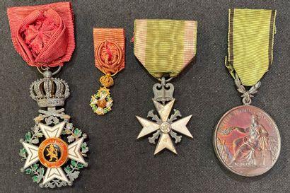 Belgique - Ordre de Léopold, lot de quatre...