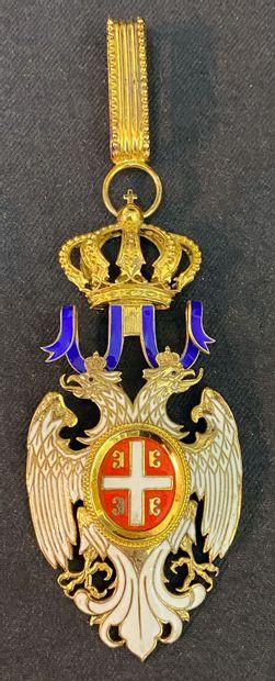 Serbie - Ordre de l'Aigle Blanc, bijou de...