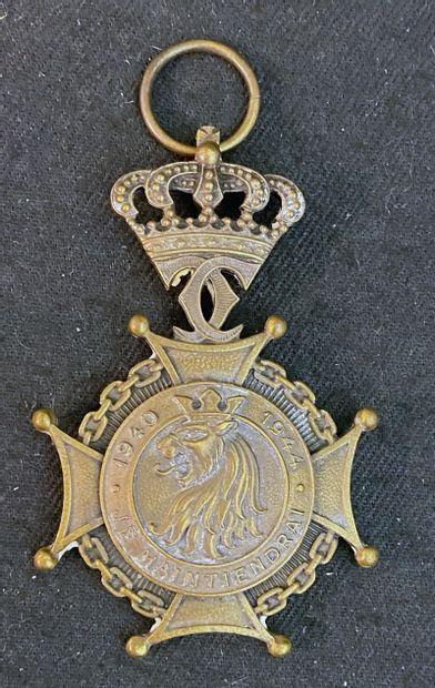 Luxembourg - Croix de la Résistance en bronze...