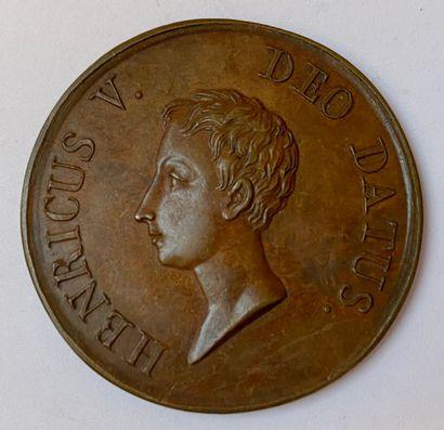 Henri V, roi de France, 1831, essai en bronze...