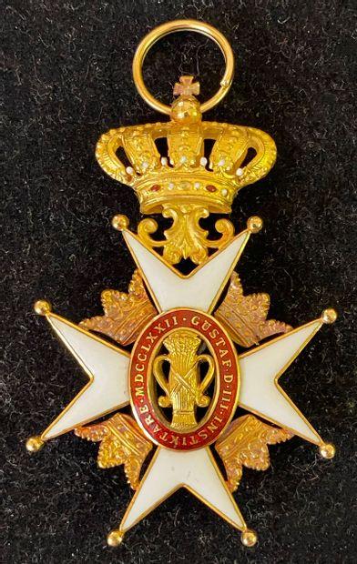 Suède - Ordre de Vasa, croix de chevalier...