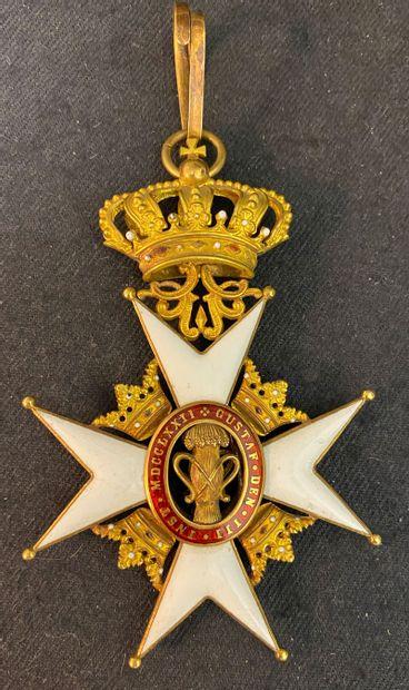Suède - Ordre de Vasa, fondé en 1772, bijou...