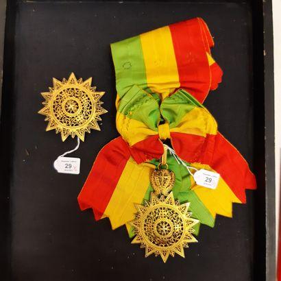 Éthiopie - Ordre de l'Étoile d'Éthiopie,...