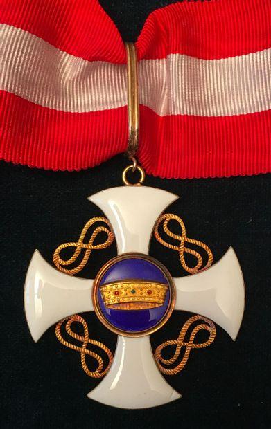 Italie - Ordre de la Couronne d'Italie, fondé...