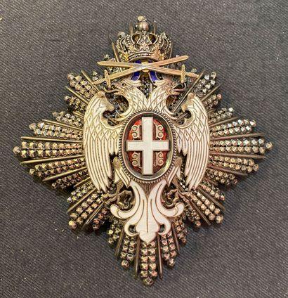 Serbie - Ordre de l'Aigle Blanc, fondé en...