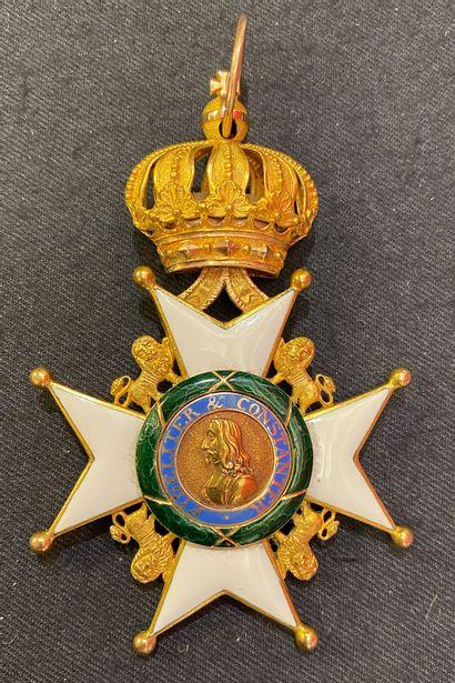 Allemagne, duchés de Saxe - Ordre la Maison...