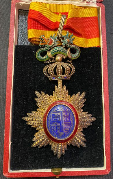 Annam - Ordre du Dragon, fondé en 1884, bijou...