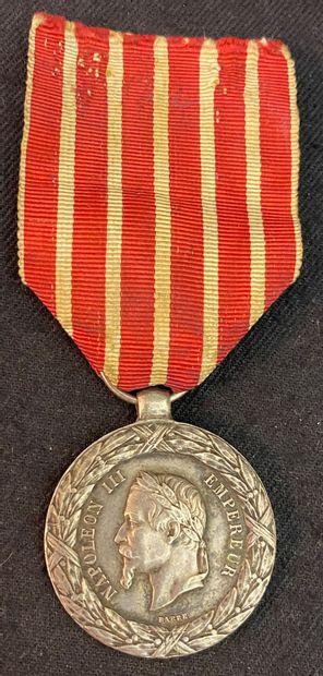 Médaille commémorative de la Campagne d'Italie,...