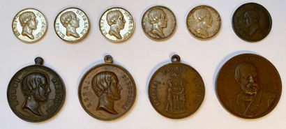 «Fides Spes», 1848-1872, lot de dix médailles...