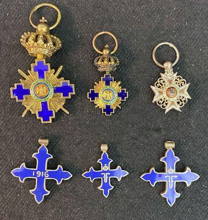 Roumanie - Lot de six miniatures : deux de...