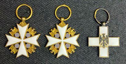 Allemagne - Lot de trois miniatures en vermeil...