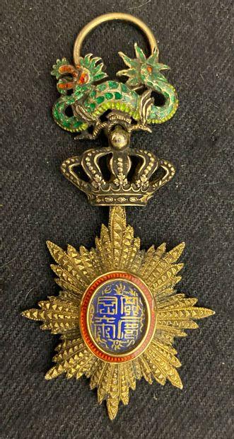 Annam - Ordre du Dragon, bijou d'officier...