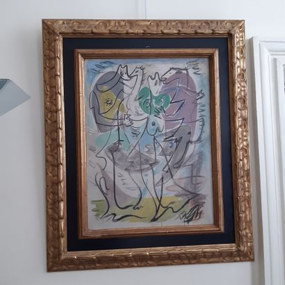 André MASSON (1896-1987) Sans titre, vers 1930 Huile, pastel et tempera sur toile,...