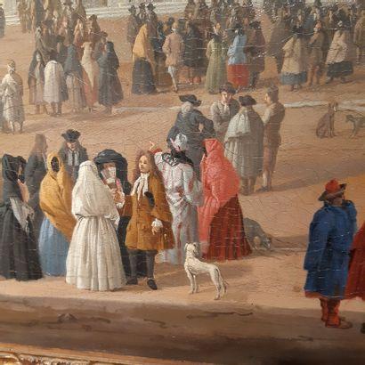 Lucas CARLEVARIJS (Udine 1663 - Venise 1730) Vue de la place Saint-Marc et de la...