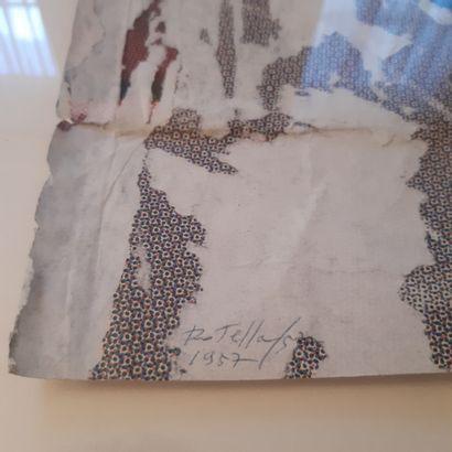 Mimmo ROTELLA (1918-2006) Sans titre, 1957 Décollage, signé et daté en bas à gauche....