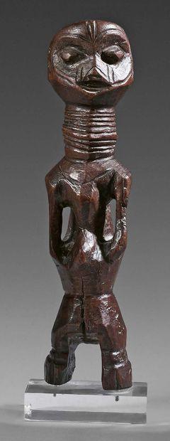 Statue Chamba (?), Nigeria. Bois à patine...