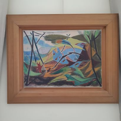 André MASSON (1896-1987) Paysage avec un oiseau mort, 1931 Huile sur toile. 39 x...