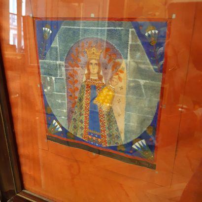 Charles FILIGER (1863-1928) Vierge à l'enfant, 1910 Gouache, signée en bas à droite,...