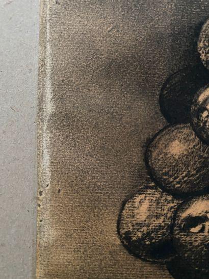 Odilon REDON (1840-1916) La grappe ou le marchand de ballons Dessin au fusain et...