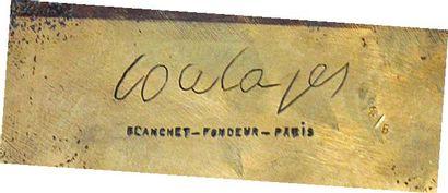 Pierre SOULAGES (né en 1919) Bronze, n°2, 1976 Épreuve en bronze patiné et doré,...