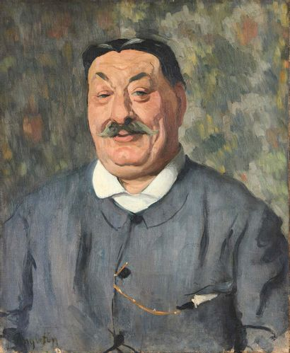 LOUIS ANQUETIN (1861-1932) Portrait of a man Oil on canvas, signed lower left. 73...