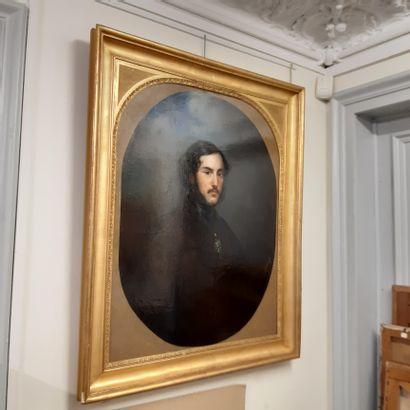 Claude-Marie DUBUFE (1790-1864) Portrait of Alexandre Edmond de Talleyrand Oil on...