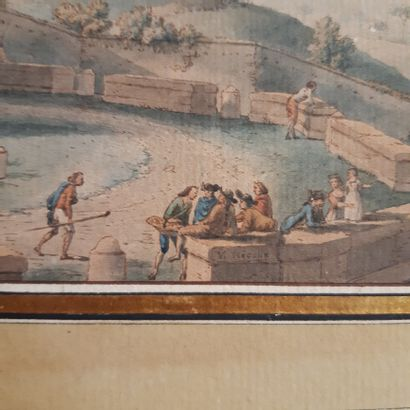 Victor Jean NICOLLE (1754-1826) The Fountain of the Acqua Paola on the Janiculum...